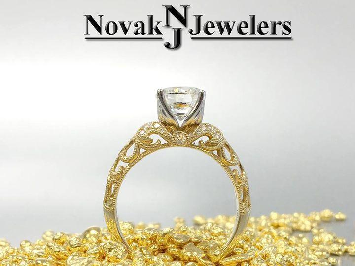 Tmx 1466783823930 Yellow Gold Eng Ring Side View Ballwin wedding jewelry