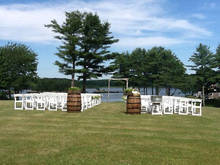 1774 Inn waterfront wedding ceremony