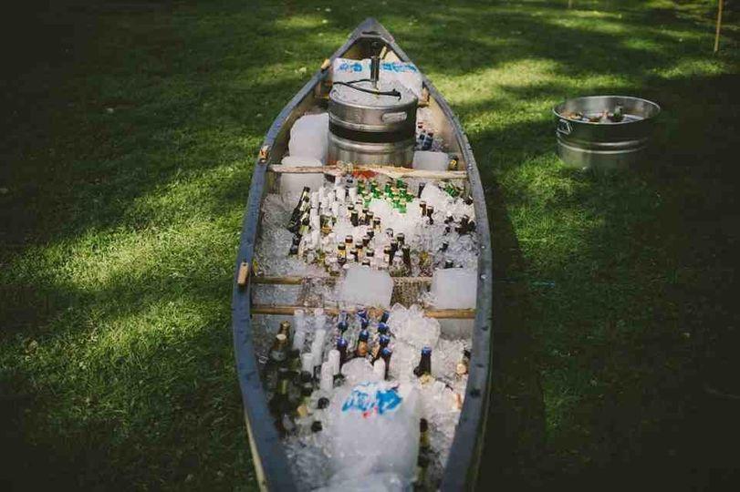 The 1774 Inn canoe cooler