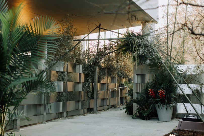 Decorated walkway