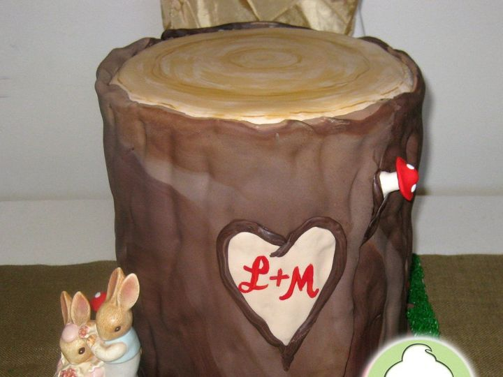 Tmx 1358791177982 TreeStumpWeddingCakeMain Seattle wedding cake
