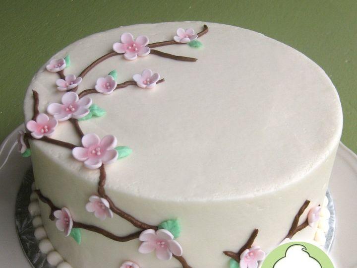 Tmx 1358795803549 CherryBlossumWeddingCakeMain Seattle wedding cake