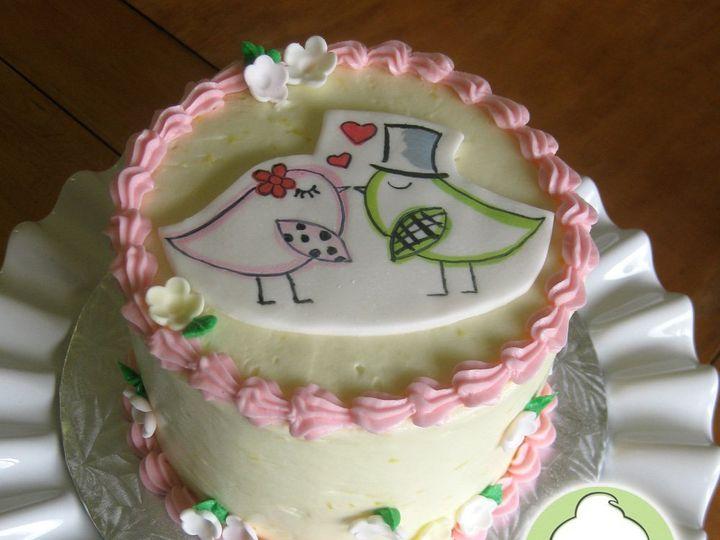 Tmx 1358795830821 LoveBirdsCakeMain Seattle wedding cake