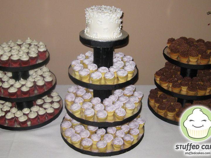 Tmx 1358795843282 MiniWhiteFlowersWeddingDisplayMain Seattle wedding cake