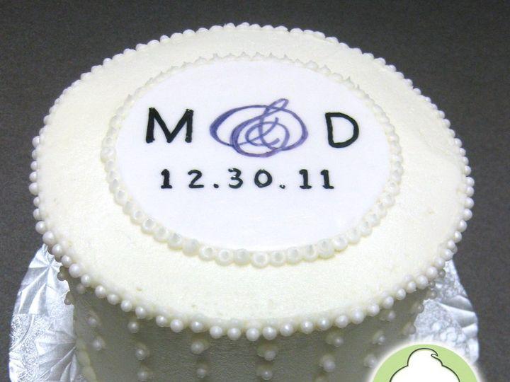 Tmx 1358795847318 MonogramCuttingCakeMain Seattle wedding cake