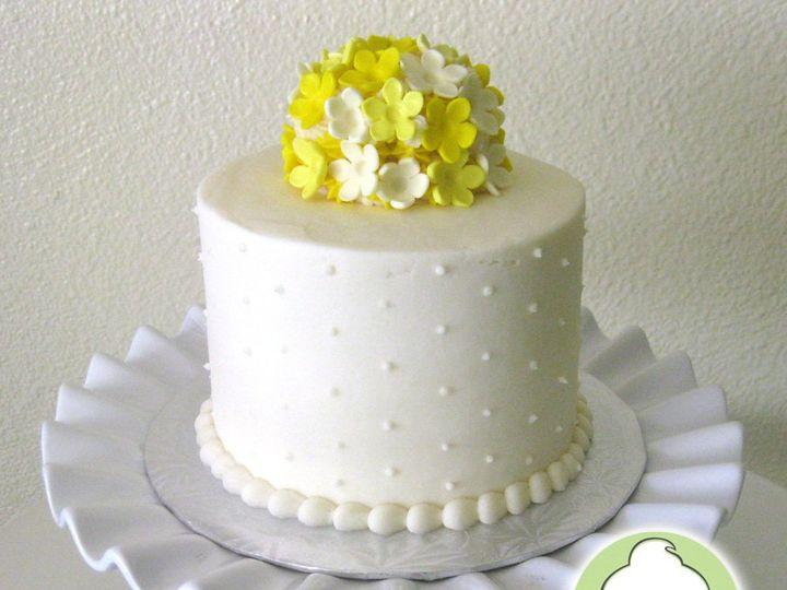 Tmx 1358795858636 YellowFlowersWeddingDisplayCuttingCake Seattle wedding cake
