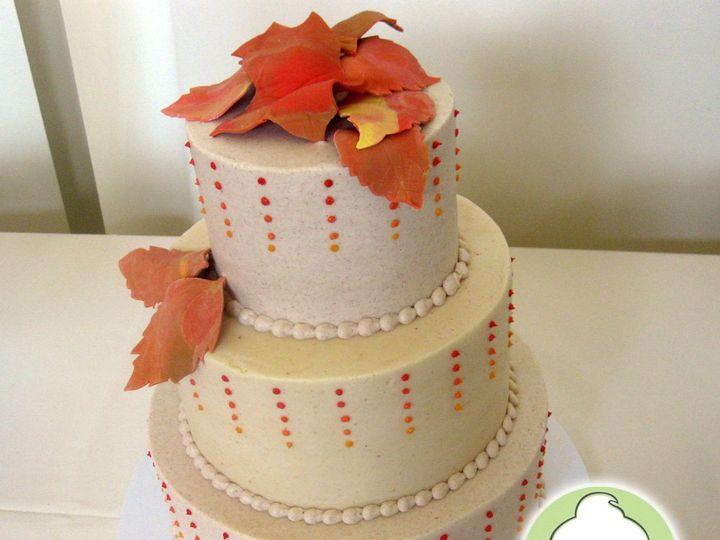 Tmx 1358829753403 FallLeaveTieredWeddingCake Seattle wedding cake
