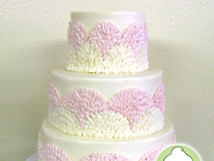 Tmx 1358829760785 PinkFanTieredWeddingCake Seattle wedding cake