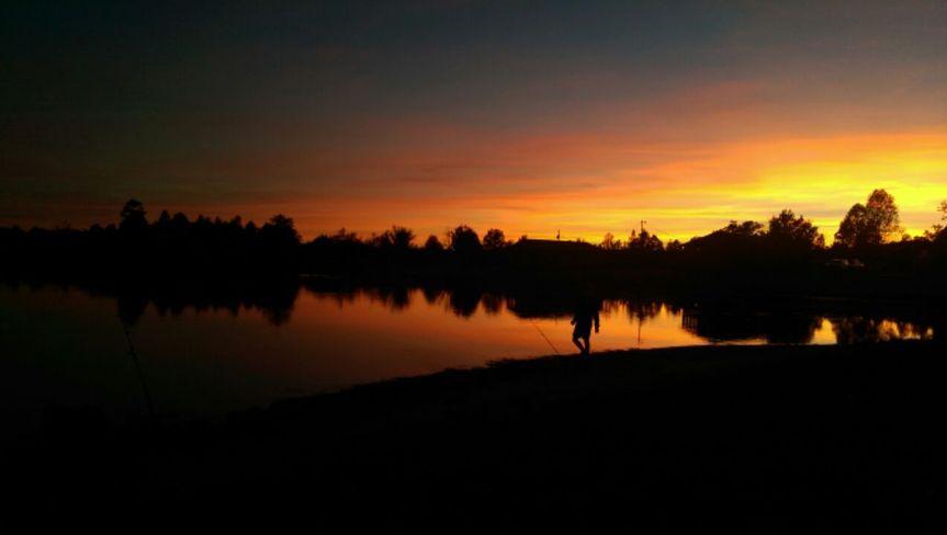 Big Buck Resort at sunset