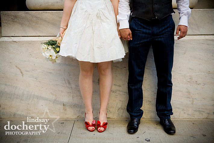 Stylish bride + groom