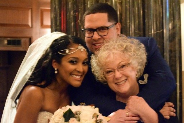 CT officiant Zita Christian of Moon River Rituals with Latitia and Eloyd at The Society Room in...