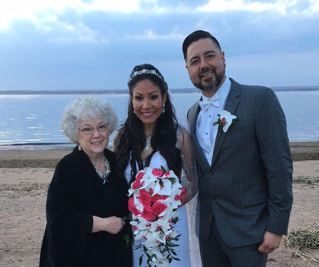 Beach wedding in CT