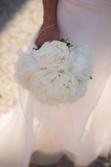 bouquet peonie total bianco