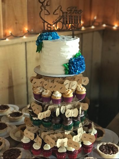 Cupcakes and cutter cake