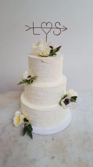 Anemone cake decor