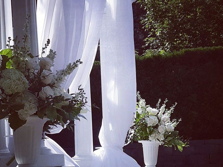 Tmx Gazebo With Draping And White Florals 51 782503 157832365124568 Allentown, PA wedding florist
