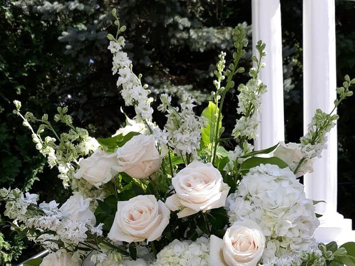 Tmx Standing Spray In White 51 782503 157832365061594 Allentown, PA wedding florist