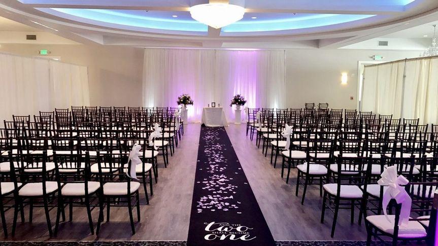 Indoor wedding space
