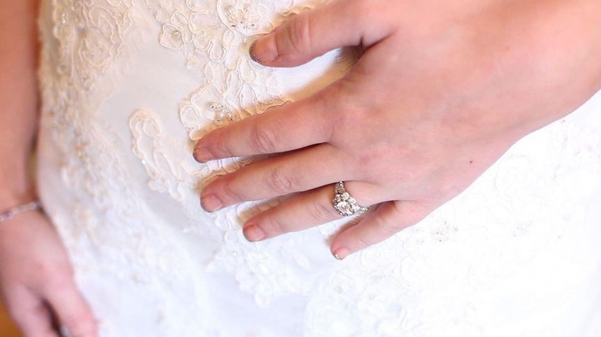 hand on dress