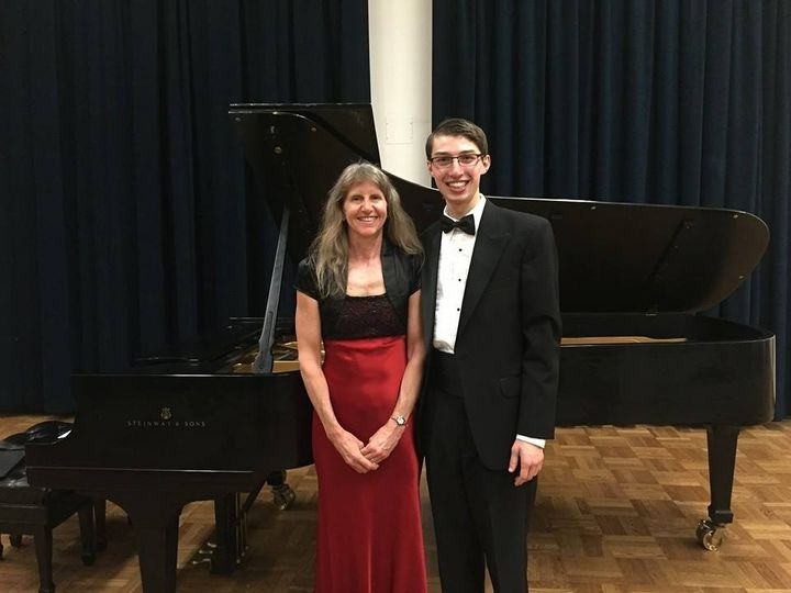 With duo partner, Laurie Smith