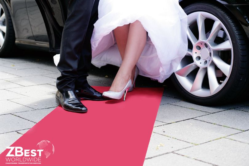 Red carpet rollout for wedding