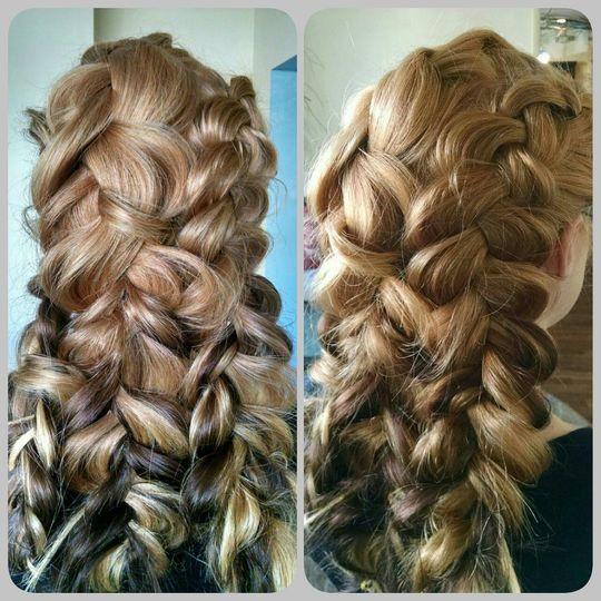 Intricate long braids