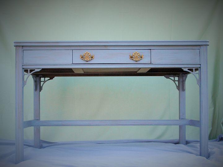 Tmx 1437776824952 Light Blue Gray Desk Table Intercourse wedding rental