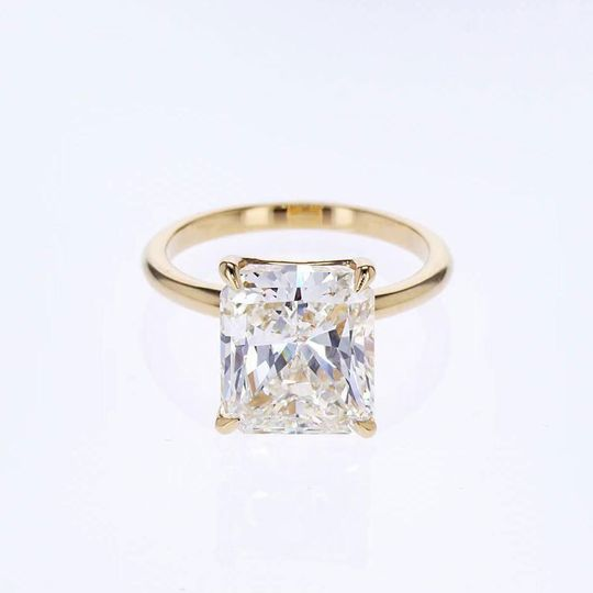 5-carat cushion cut solitaire
