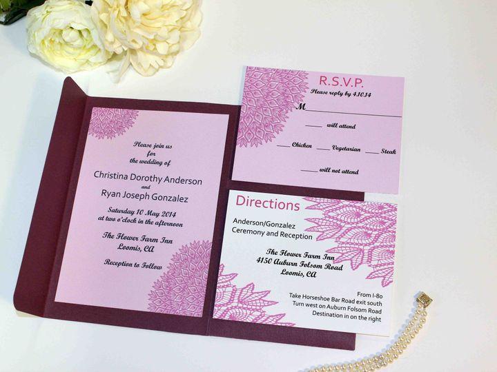Tmx 1444167414710 Tknotes Weddingsvintage Lace Dress Inspiration 1 San Francisco wedding invitation