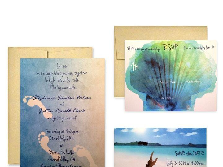 Tmx 1453682594771 Beach San Francisco wedding invitation