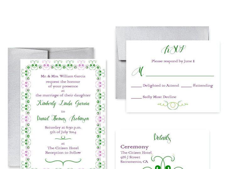 Tmx 1453682631283 Grnpurp San Francisco wedding invitation
