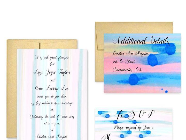 Tmx 1453682658085 Pastel San Francisco wedding invitation