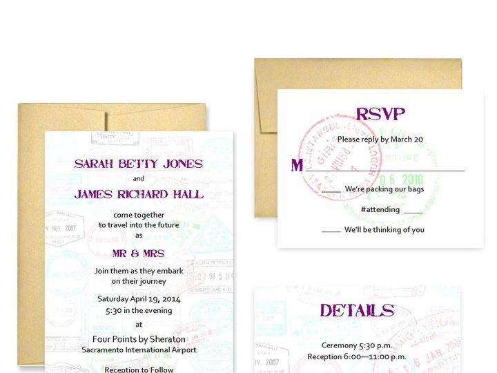 Tmx 1453682674332 Travel San Francisco wedding invitation