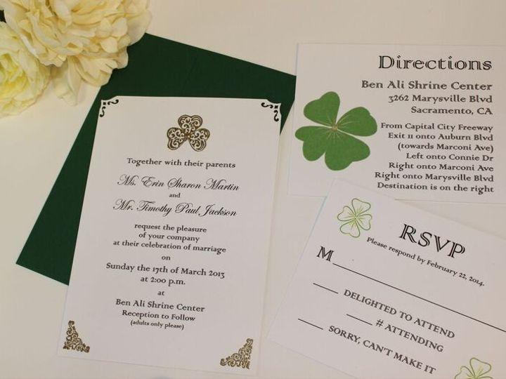 Tmx 1453682741304 St Patricks Day Invitations San Francisco wedding invitation
