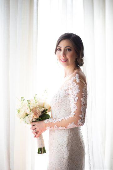 Natural light bridal portraits