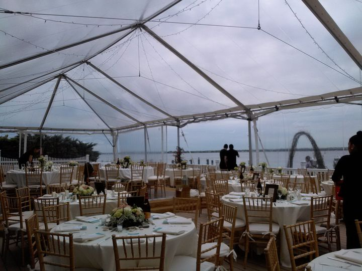 Interior of the transparent tent