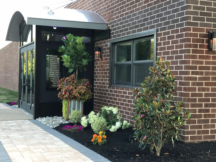 Beautiful custom entrance for Rafters