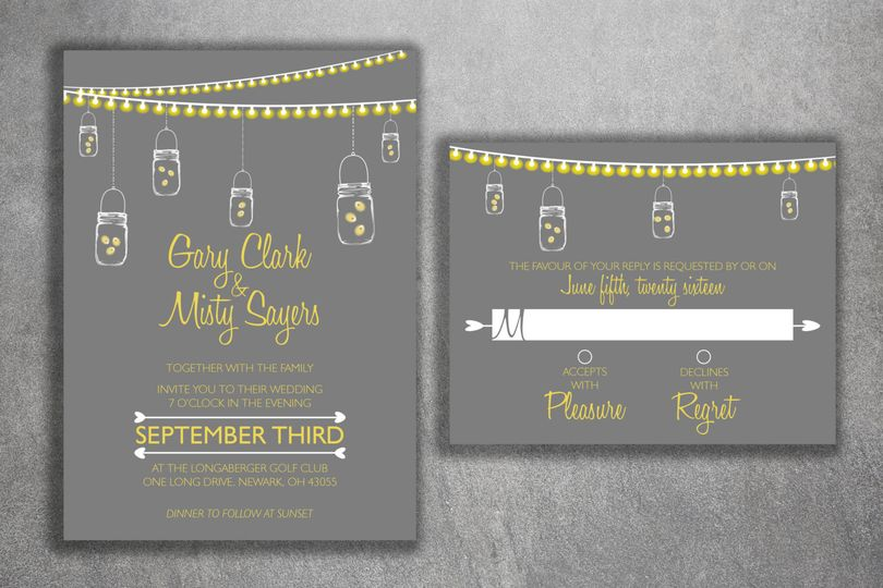 Grey and yellow design