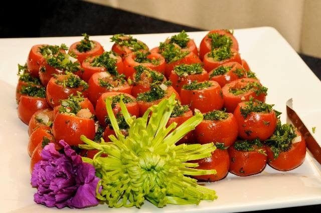 Cherry Tomatoes stuffed with Tabouleh