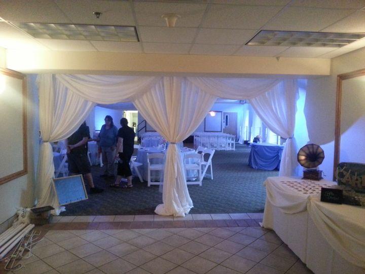 Reception entrance drapes