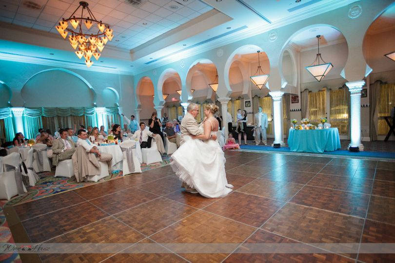 First dance with blue uplights