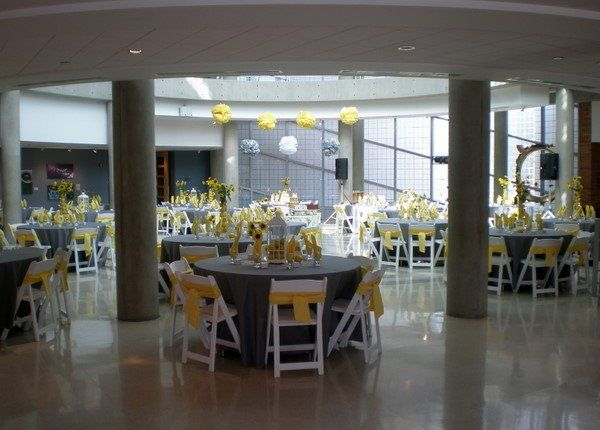 Reception room decorated by Poppyscott Events at the Sioux City Art Center