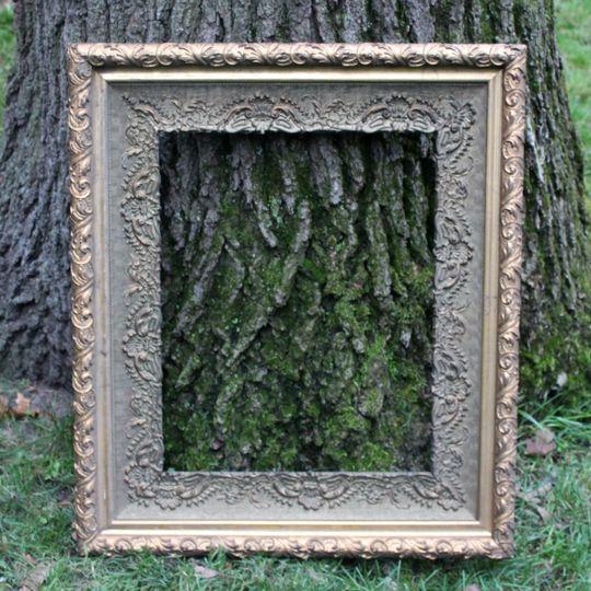 antique bronze and gold fram