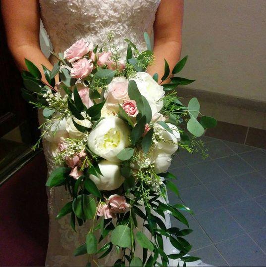 Long bridal bouquet