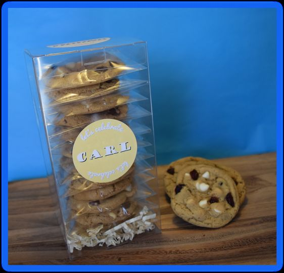 Cookie Tower gift:  12 custom cookies, with your choice of mix-ins, custom labeled in your choice of...