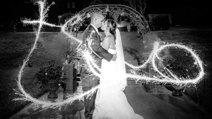 Sparklers magic shot