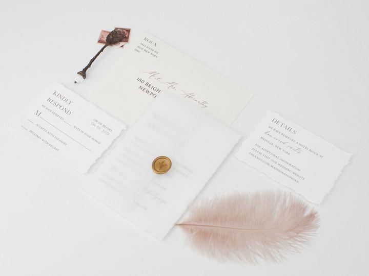 Tmx Modernchic Linenpine Lilypannella 2 51 1885603 162681167351509 Shoreham, NY wedding invitation