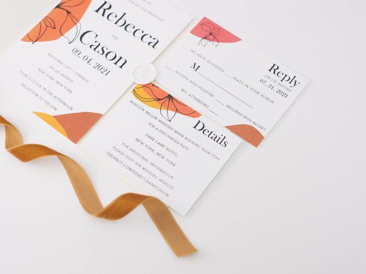 Tmx Orchid Linenpine Lilypannella 2 51 1885603 162681173070547 Shoreham, NY wedding invitation