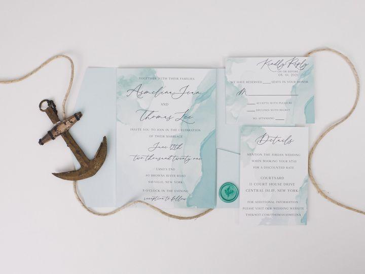 Tmx Seafoam Linenpine Lilypannella 8 51 1885603 162681174688727 Shoreham, NY wedding invitation