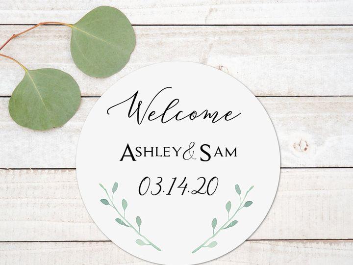 Tmx Welcome Greenery Wood 51 1885603 158766842316944 Shoreham, NY wedding invitation